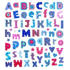 Adesivo-Artesanal-I-Alfabeto-Azul-e-Vermelho-AD1641---Toke-e-Crie