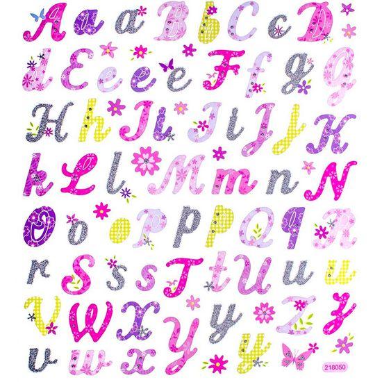 Adesivo-Artesanal-I-Alfabeto-com-Flores-AD1643---Toke-e-Crie