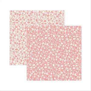 Papel-Scrapbook-Classico-Texturizado-Rosa-Floral-KSBC001---Toke-e-Crie-by-Ivana-Madi