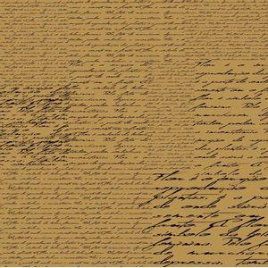 Papel-Scrapbook-Simples-Manuscrito-Marrom-KFSK009---Toke-e-Crie-by-Flavia-Terzi
