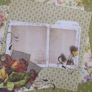 Papel-Scrapbook-com-Glitter-Vintage-com-Flores-LSCG-019---Litocart