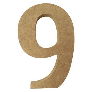Enfeite-de-Mesa-Numero--9--12cm-x-18mm---Madeira-MDF