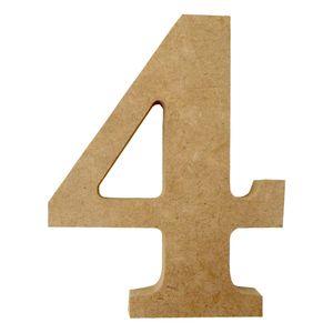Enfeite-de-Mesa-Numero--4--12cm-x-18mm---Madeira-MDF