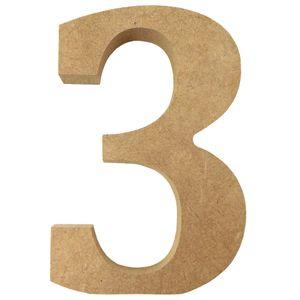 Enfeite-de-Mesa-Numero--3--12cm-x-18mm---Madeira-MDF