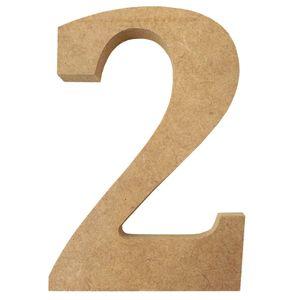 Enfeite-de-Mesa-Numero--2--12cm-x-18mm---Madeira-MDF