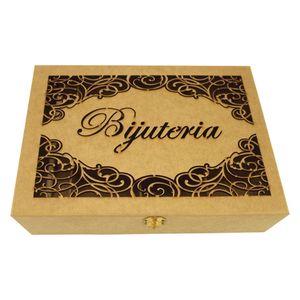 Caixa-Bijuterias-Arabescos-com-9-Divisoes-e-Porta-Anel---Madeira-MDF
