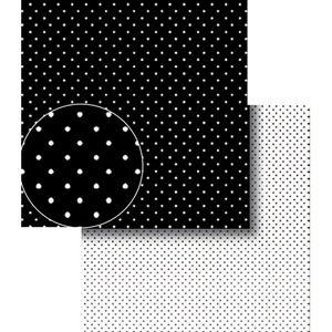 Papel-Scrapbook-Dupla-Face-Poa-Bolinhas-Preto-e-Branca-LSCDS-006---Litocart