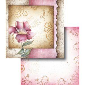 Papel-Scrapbook-Dupla-Face-Flores-Rosas-Francesas-LSCD-335---Litocart
