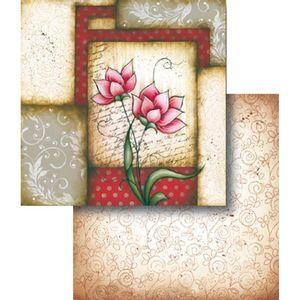 Papel-Scrapbook-Dupla-Face-Flores-Rosas-LSCD-336---Litocart