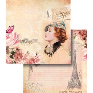Papel-Scrapbook-Dupla-Face-Paris-Vintage-LSCD-341---Litocart