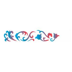 Estencil-para-Pintura-Simples-6x30-Arabesco-Tulipa-OPA1826---Opa