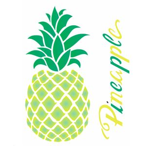 Estencil-Wall-para-Pintura-Simples-20X25-Frutas-Abacaxi-OPA1829---Opa