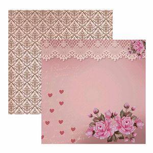 Papel-ScrapDecor-Dupla-Face-Amor-Retro-Rosas-e-Rendas-SDF587---Toke-e-Crie-by-Mamiko