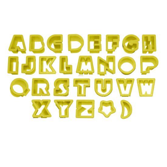 Jogo-Cortadores-Letras-2cm-Altura-com-28-pecas---Blue-Star