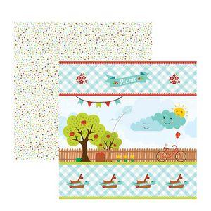 Papel-Scrapbook-Picnic-Quintal-SDF600---Toke-e-Crie