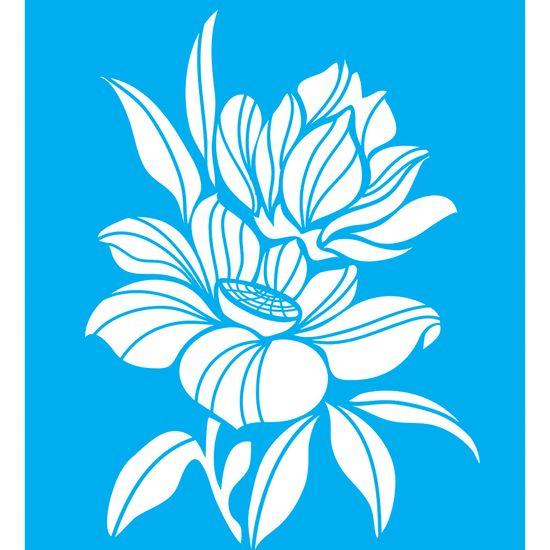 Stencil-para-Pintura-25x20-Flores-LSG-010---Litocart