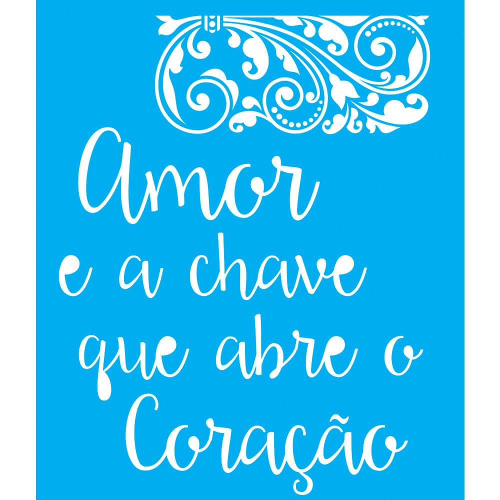 Stencil Para Pintura 25×20 Frases De Amor Lsg 018 Litocart  ~ Frases De Limpeza Na Cozinha