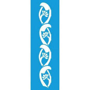 Stencil-para-Pintura-Barra-21x55-Arabesco-Flores-LSB-018---Litocart