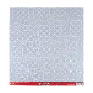 Papel-Scrapbook-Simples-Arabescos-Azul-e-Branco-LSC-079---Litocart
