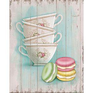 Placa-em-MDF-e-Papel-Decor-Home-Xicaras-e-Macarons-DHPM-073---Litoarte
