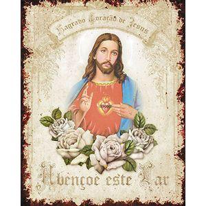 Placa-em-MDF-e-Papel-Decor-Home-Sagrado-Coracao-de-Jesus-DHPM-094---Litoarte