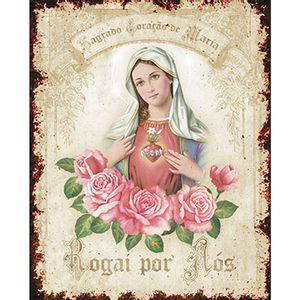 Placa-em-MDF-e-Papel-Decor-Home-Sagrado-Coracao-de-Maria-DHPM-095---Litoarte