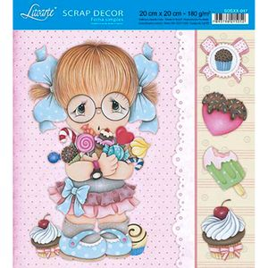 Papel-Scrap-Decor-Folha-Simples-20x20-Menina-Doces-SDSXX-047---Litoarte