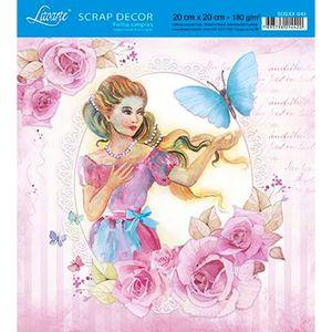Papel-Scrap-Decor-Folha-Simples-20x20-Mulher-com-Borboleta-SDSXX-043---Litoarte