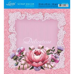 Papel-Scrap-Decor-Folha-Simples-20x20-Rosa-Delicatesse-SDSXX-040---Litoarte