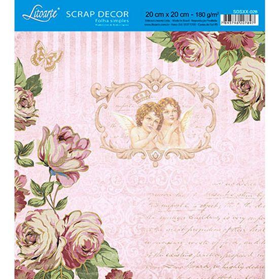 Papel-Scrap-Decor-Folha-Simples-20x20-Rosas-e-Anjos-SDSXX-028---Litoarte