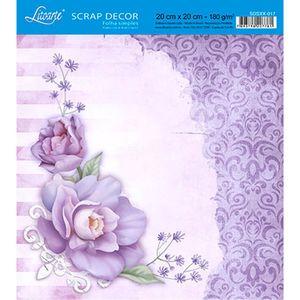 Papel-Scrap-Decor-Folha-Simples-20x20-Rosas-e-Arabesco-SDSXX-017---Litoarte