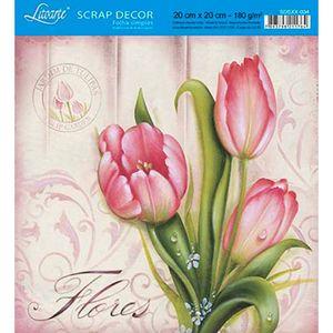 Papel-Scrap-Decor-Folha-Simples-20x20-Tulipa-SDSXX-034---Litoarte