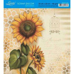Papel-Scrap-Decor-Folha-Simples-20x20-Girassol-SDSXX-033---Litoarte