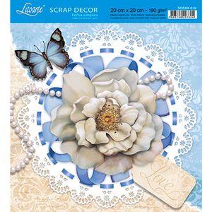 Papel-Scrap-Decor-Folha-Simples-20x20-Flor-e-Perola-SDSXX-019---Litoarte