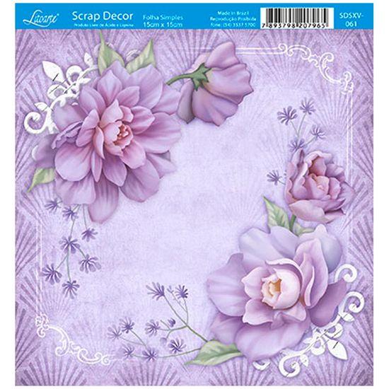 Papel-Scrap-Decor-Folha-Simples-15x15-Cantoneira-Rosas-SDSXV-061---Litoarte