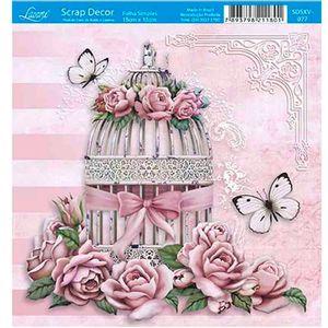 Papel-Scrap-Decor-Folha-Simples-15x15-Gaiola-e-Rosas-SDSXV-077---Litoarte