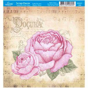 Papel-Scrap-Decor-Folha-Simples-15x15-Rosas-Docura-SDSXV-068---Litoarte
