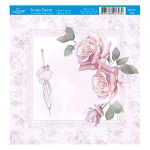Papel-Scrap-Decor-Folha-Simples-15x15-Rosas-e-Guarda-Chuva-SDSXV-058---Litoarte
