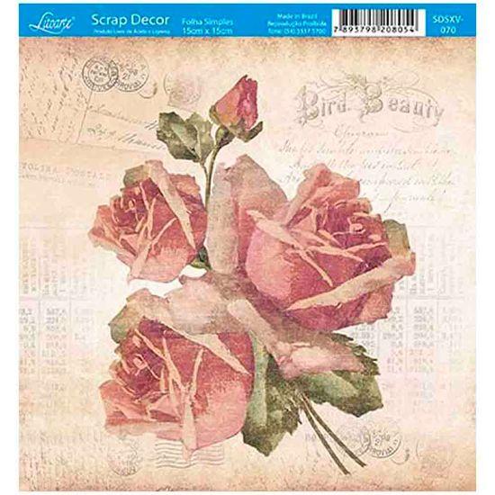 Papel-Scrap-Decor-Folha-Simples-15x15-Rosas-Vintage-SDSXV-070---Litoarte