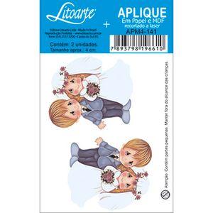 Aplique-Decoupage-em-Papel-e-MDF-Noivos-Loiros-APM4-141---Litoarte
