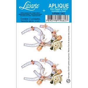 Aplique-DecoPapel-e-MDF-Ferradura-Flores-APM4-142---Litoarupage-em-te