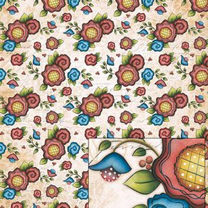 Papel-Scrapbook-Dupla-Face-Borboletas-e-Flores-SD-403---Litoarte