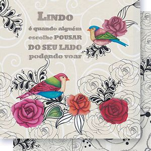 Papel-Scrapbook-Dupla-Face-Passaros-Rosas-e-Arabescos-SD-416---Litoarte
