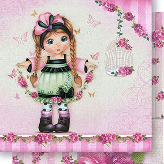 Papel-Scrapbook-Dupla-Face-Meninas-e-Rosas-SD-417---Litoarte