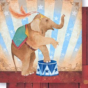 Papel-Scrapbook-Dupla-Face-Elefante-de-Circo-Feminino-SD-441---Litoarte