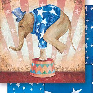 Papel-Scrapbook-Dupla-Face-Elefante-de-Circo-Masculino-SD-442---Litoarte