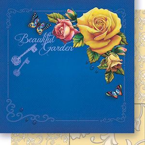 Papel-Scrapbook-Dupla-Face-Beautiful-Garden-SD-445---Litoarte