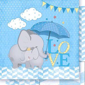 Papel-Scrapbook-Dupla-Face-Elefantes-Meninos-SD-390---Litoarte