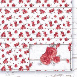 Papel-Scrapbook-Dupla-Face-Rosas-e-Madeira-Branca-SD-398---Litoarte