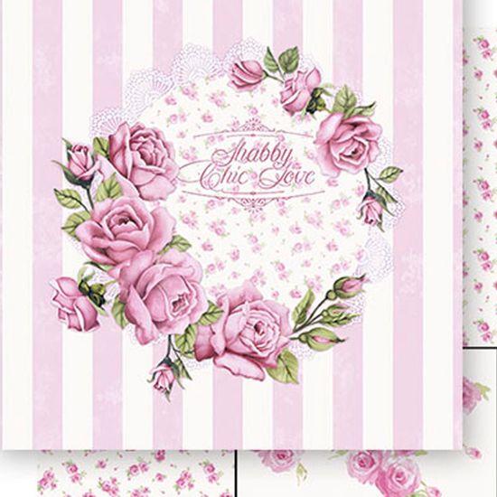 Papel-Scrapbook-Dupla-Face-Rosa-fundo-Listras-SD-401---Litoarte
